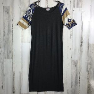 LuLaRoe | Grey, Boho Midi Dress Medium